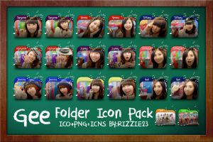 SNSD Gee Folder Icon Pack by Rizzie23