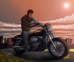 Roach on Harley Davidson by Yankeestyle94