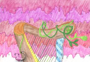 Harp with background music by mene
