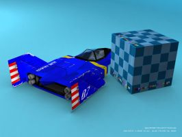 Blue Falcon F-Zero GX AX back by Dil1880