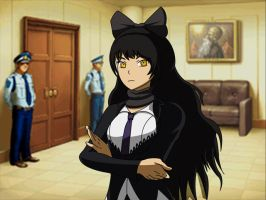 Ruby Rose- Ace Attorney ~ Blake Belladona (Sprite) by IceNinjaX77