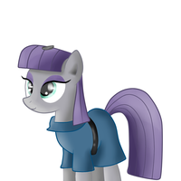 Maud Pie And Her Pet Rock by Gray-Feathers