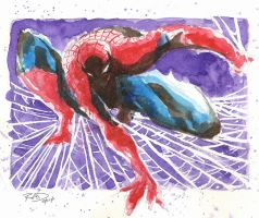 Watercolor - Spiderman 01 by RobDuenas