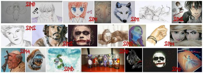 My artwork from 2010 to 2016 by maja135able