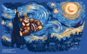 D.Kong's Starry Night by Lokklyn