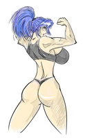 Request: Leona Heidern, Flexing by satoopid