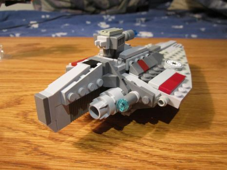 Acclamator class Star Destroyer (back view) by Taggerung1