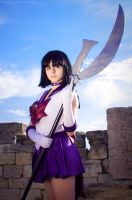 Sailor Saturn with her Glaive of Death by LoveSenshi