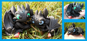 Nightfury Toothless Couple by SkipperSara