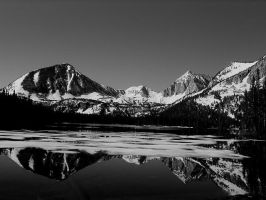 Davis Lake Reflection BW1 by tcore