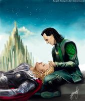 Thor and Loki) by Angel-bringer