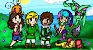 Main Characters. TLoZ: The Enigmatic Princess by ChristalLovePkmn