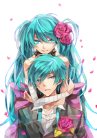 Hatsune Twins Render by zombieusagi