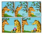 """Giraffes say """"WHUT?"""" by thelovecat"""