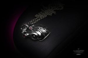 Cor Biomechanical B.27(black) - Necklaces gothic by tivodar66