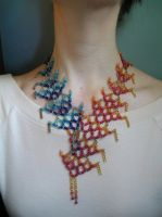Fire and Ice necklace worn by HeddaLee