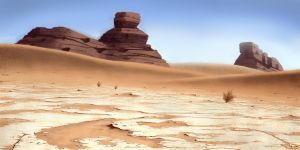 Desert rocks2 by E-sketches
