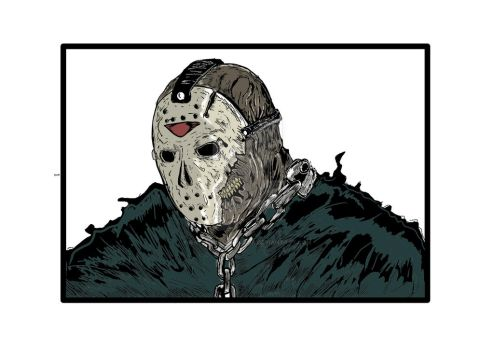 Friday the 13th jason in color By Ray Perilloux by raytheillustrator