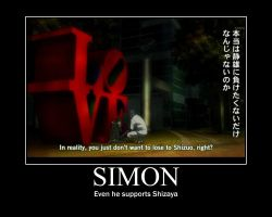 Even Simon Supports Shizaya! by shotachii