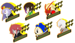 Vaati and Friends Persona 4 Battle Icons by DJNightmar3