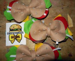 Cheese Burger Bows by labrattish