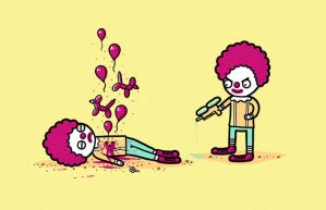 Clown death by randyotter