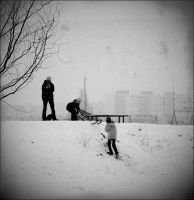 Winter is season for children. by narva