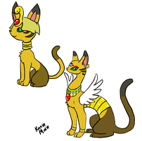 Egypten and Egypurr by Arcane-Panda