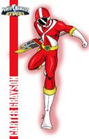 Red Lightspeed Power Ranger by deena-chan
