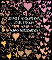 Heart Icon Brushes by webgoddess