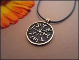 Ancient Vegvisir Pendant - The Viking Compass by BaldurJewelry