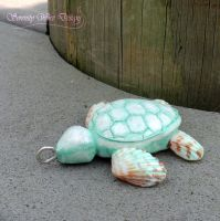 The Little Sea Shell Turtle by SerenityWireDesigns