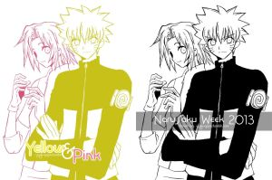 Yellow and Pink by josephine12cute