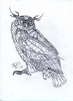 Mechanical owl.... by blueliberty