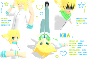 MMD - Kiba + Model Download by nyanami