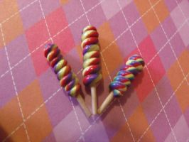 Rainbow Unicorn lollipops by Hearts-at-Sea