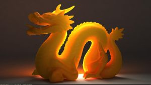 Cinema 4D -- Vray Dragon model by SMOKEYoriginalHD