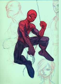Sketchbook spidey by KJVallentin