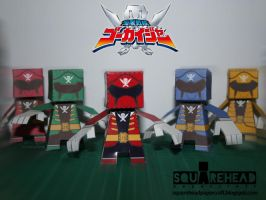 Gokaiger Papercraft by jazzmellon