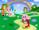 Kirby and the Rainbow Curse by WingedPPG
