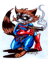 Rocket Raccoon by the-ChooK