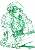 Dr. Sketchy's -Poison Ivy- by MichaelMayne