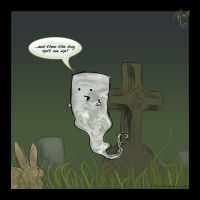 Marshmallow Ghost by Twitchy-Kitty-Studio