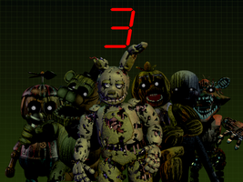 Five Nights at Freddy's 3 All Animatronics by TheSitciXD