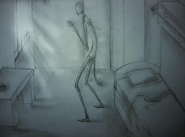 Slenderman in the empty room by lOsal