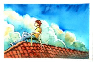 George Weasley: Rooftop by The-Starhorse