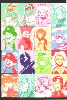 Random - Sketchcards 1 by Grim-Kun