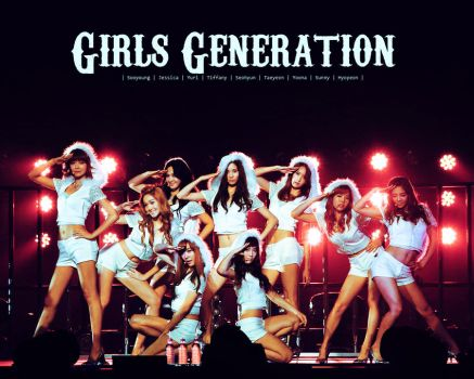 SNSD wallpaper 8. by NiiaChaan