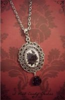 HANDMADE -Victorian Black Rose Necklace by IWantCandyCreation