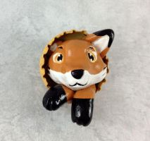 Fox Pop-Out Bottlecap Button by LeiliaClay